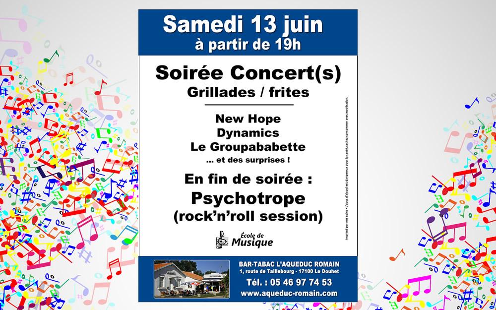 Soirée Concert(s) le 13 Juin
